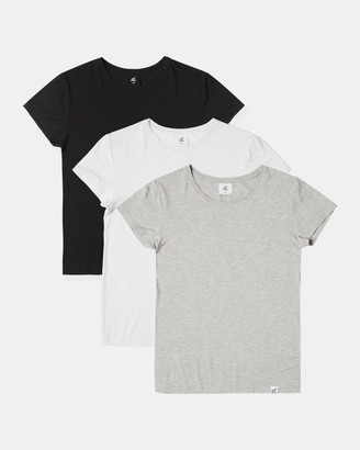 Boody Organic Bamboo Eco Wear 3 Pack Crew Neck T-Shirt