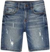 River Island Boys mid blue skinny fit shorts