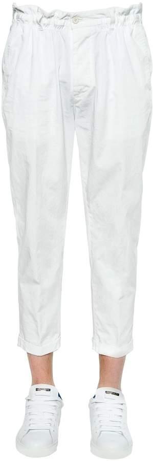 DSQUARED2 17cm Dan Elastic Fit Light Twill Pants