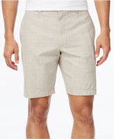 Club Room Men's Big and Tall Crosshatch Flat-Front Shorts, Only at Macy's