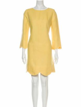 Chloé Scoop Neck Mini Dress Yellow