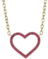 Finn Ruby Open Heart Necklace