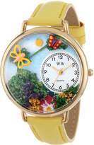 Whimsical Watches Women's G1210001 Butterflies Green Yellow Leather Watch