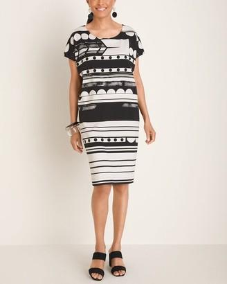 Chico's Chicos Geometric Striped Wedge Dress