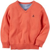 Carter's Sweater (Baby) - Clouded Coral-3 Months