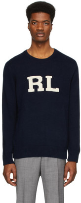 Polo Ralph Lauren Navy RL Crewneck Sweater