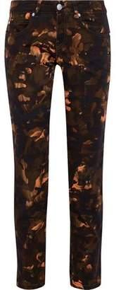 Versace Printed Low-rise Slim-leg Jeans