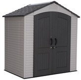 Lifetime Outdoor Storage Shed 7' x 4.5' - Gray