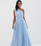 Asos Tall DESIGN Tall One Shoulder Tulle Maxi Dress