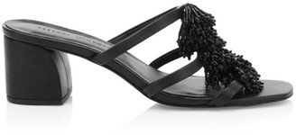 Rebecca Minkoff Raygan Embellished Fringe Leather Mules