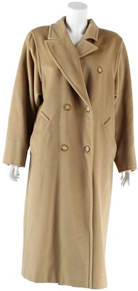 Max Mara Beige Wool Trench Coat for Women