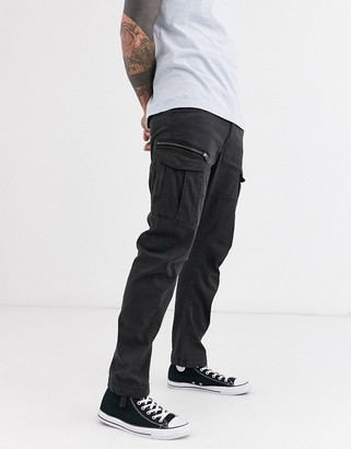 Jack and Jones Intelligence cargo pants in black