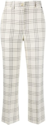 Twin-Set Check Cropped Trousers