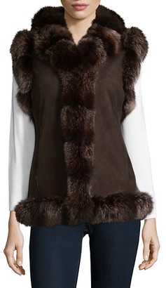 Belle Fare Dyed Fox Fur Vest