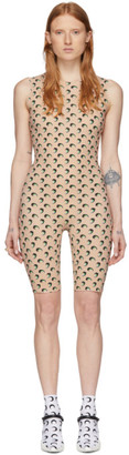 Marine Serre SSENSE Exclusive Tan All Over 3D Moon Catsuit
