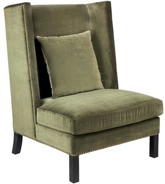 Cafe Lighting Lourdes Arm Chair Moss