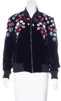 Tanya Taylor Embellished Velvet Jacket