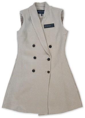 Whyte Studio Deactivate Sleeveless Blazer Dress Latte