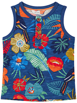 John Lewis GOTS Cotton Cuba Tropical Vest Top, Navy
