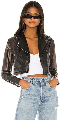 superdown Sloane Cropped Moto Jacket