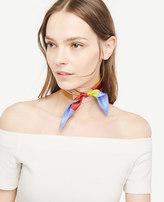 Ann Taylor Striped Skinny Silk Scarf