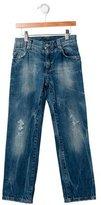 Dolce & Gabbana Girls' Distressed Straight-Leg Jeans