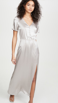 SABLYN Addison Satin Button Front Dress