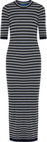 MiH Jeans Moonstone striped wool maxi dress