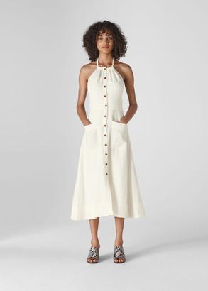 Ada Halterneck Linen Dress