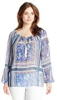 Single Dress Women's Plus-Size Long-Sleeve Peasant Blouse