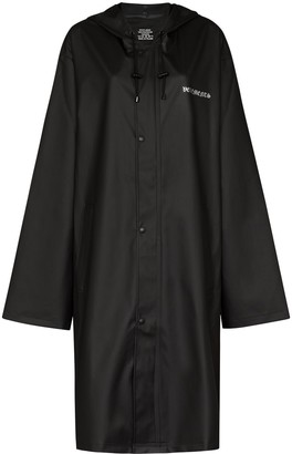 Vetements Logo-Print Oversized Raincoat