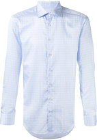Etro diamond pattern long sleeved shirt - men - Cotton - 39