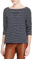 Polo Ralph Lauren Brenton-Striped Boat Neck Tee