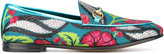 Gucci Jordaan floral jacquard loafers - women - Leather/Polyurethane - 36