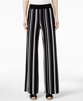 INC International Concepts Petite Striped Wide-Leg Soft Pants, Only at Macy's