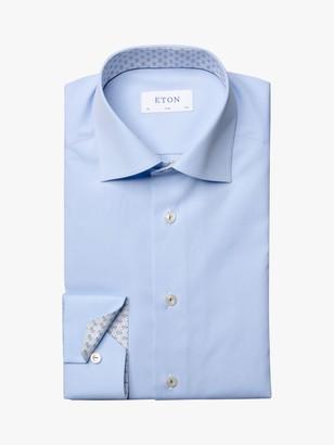 Eton Micro Contrast Poplin Slim Fit Shirt