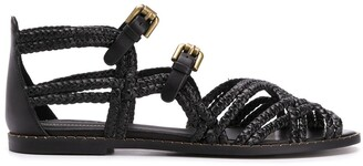 See by Chloe Woven Buckled Sandals