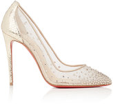 Christian Louboutin Women's Follies Strass Mesh & Leather Pumps
