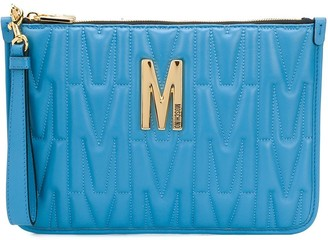 Moschino quilted logo clutch bag