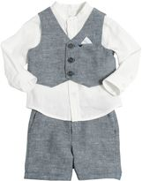 Armani Junior Cotton & Linen Vest, Shirt & Shorts