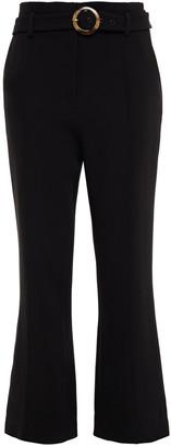 Jonathan Simkhai Florence Belted Stretch-crepe Kick-flare Pants