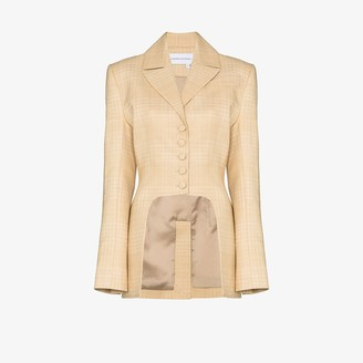 ALEKSANDRE AKHALKATSISHVILI Cutout Check Suit Jacket