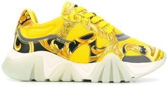 Versace Squalo baroque print sneakers
