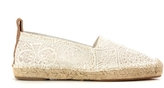 Chloé Isa Flat Espadrille in Lace