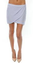 Mason by Michelle Mason Drape Mini Skirt