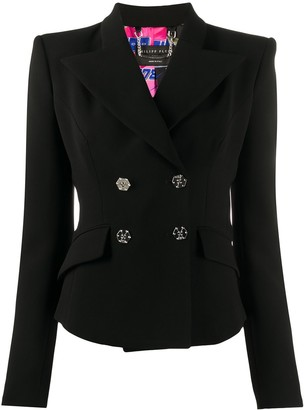 Philipp Plein Fitted Double Breasted Blazer