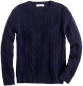 J.Crew Kids' collection cashmere cable crewneck sweater