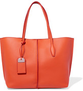 Tod's Joy Medium Textured-leather Tote - Orange