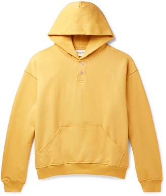 Fear Of God Oversized Loopback Cotton-Jersey Hoodie - Men - Yellow