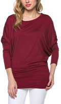 Celeste Burgundy Dolman Top